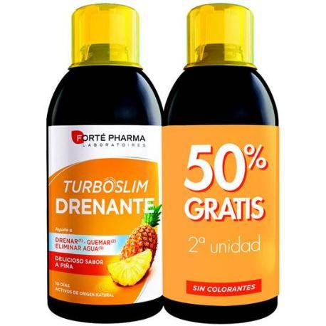 comprar DUPLO TURBOSLIM PIÑA DRENANTE 500ML FORTEPHARMA ayuda a eliminar liquidos