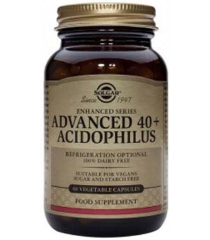 SOLGAR 40+ ACIDOPHILUS AVANZADO 60 CAPSULAS VEGETALES