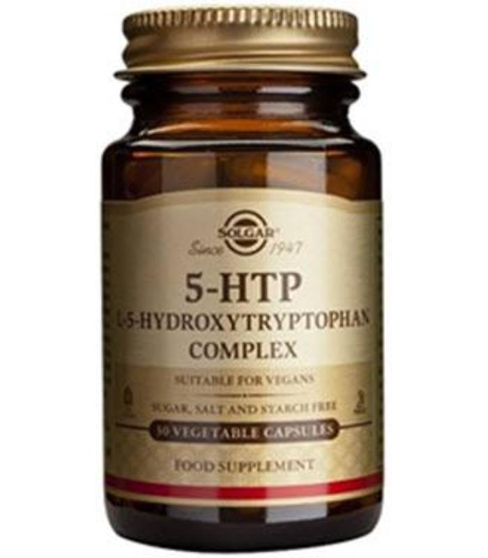 SOLGAR 5HTP HIDROXITRIPTOFANO 100MG 30 CAPSULAS VEGETALES