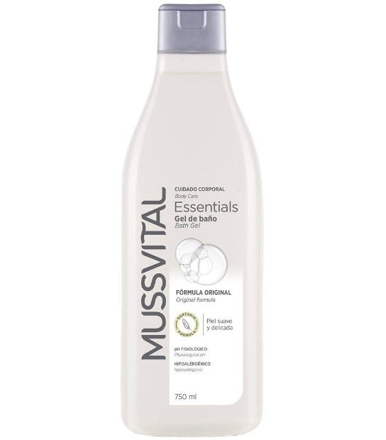 MUSSVITAL ESSENTIALS GEL BAÑO ORIGINAL 750 ML