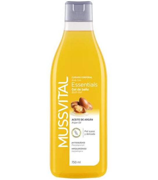 COMPRAR MUSSVITAL ESSENTIALS GEL DE BAÑO ACEITE DE ARGAN 750 ML