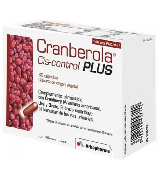 comprar CRANBEROLA CIS-CONTROL PLUS 60 CAPSULAS CON BREZO
