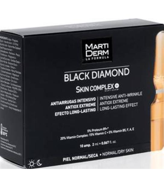 MARTIDERM BLACK DIAMOND SKIN COMPLEX + 10 AMPOLLAS PIEL NORMAL-SECA