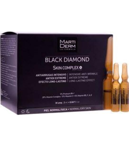 MARTIDEM BLACK DIAMOND SKIN COMPLEX + 30 AMPOLLAS PIEL NORMAL-SECA
