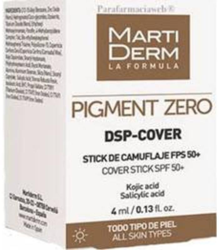 MARTIDERM PIGMENT ZERO DSP-COVER STICK 4ML TODO TIPO DE PIEL