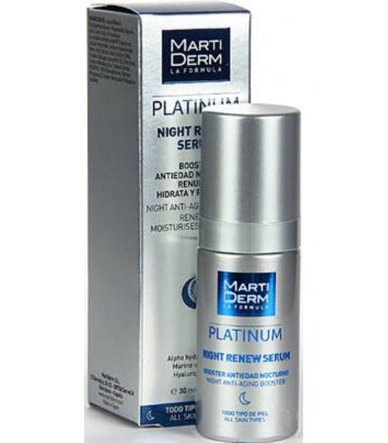 MARTIDERM PLATINUM NIGHT RENEW SERUM 30ML TODO TIPO DE PIEL