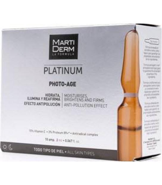 MARTIDERM PLATINUM PHOTO-AGE 10 AMPOLLAS TODO TIPO DE PIEL