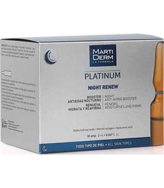 MARTIDERM PLATINUM NIGHT RENEW 30 AMPOLLAS TODO TIPO DE PIEL