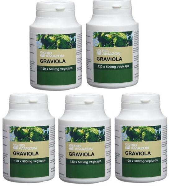 PACK 4+1 GRAVIOLA RIO AMAZON 120 CAPSULAS