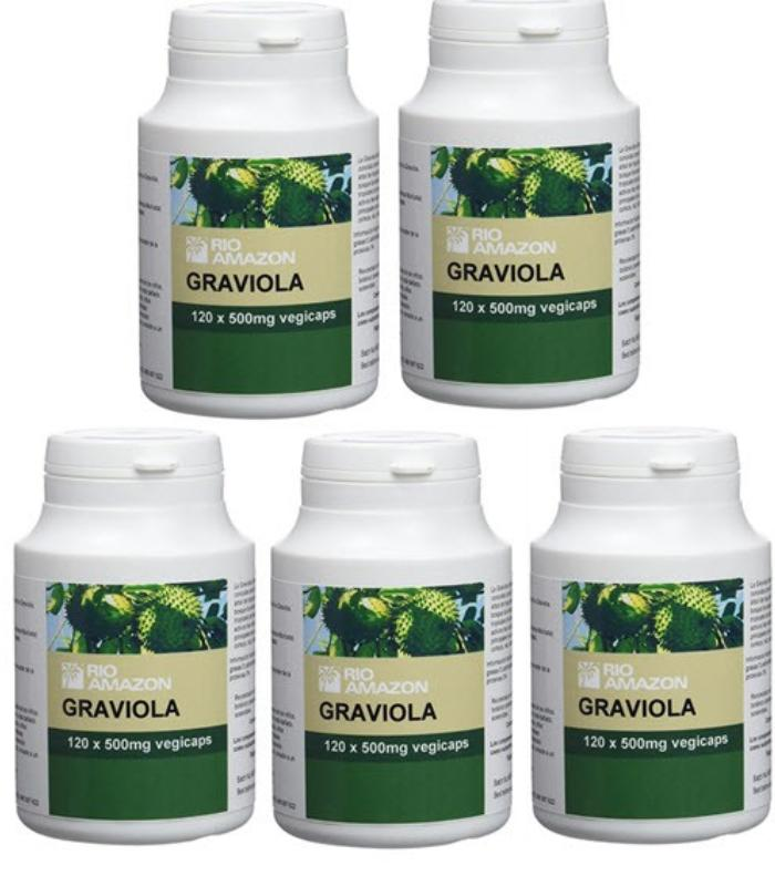 Comprar: PACK 4+1 GRAVIOLA RIO AMAZON 120 CAPSULAS, Farmadina.com