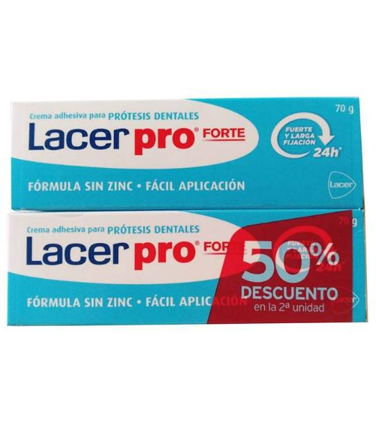 LACER PRO FORTE CREMA ADHESIVA 70 GRS + 70 GRS