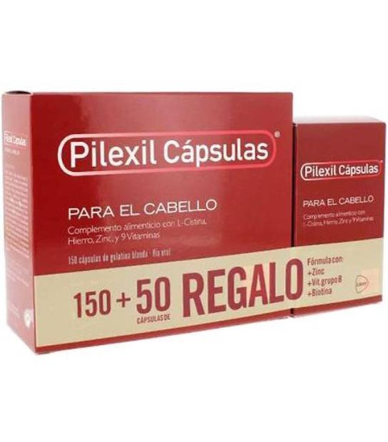 Comprar PILEXIL CÁPSULAS PARA EL CABELLO 150 CAPS + 50 CAPS