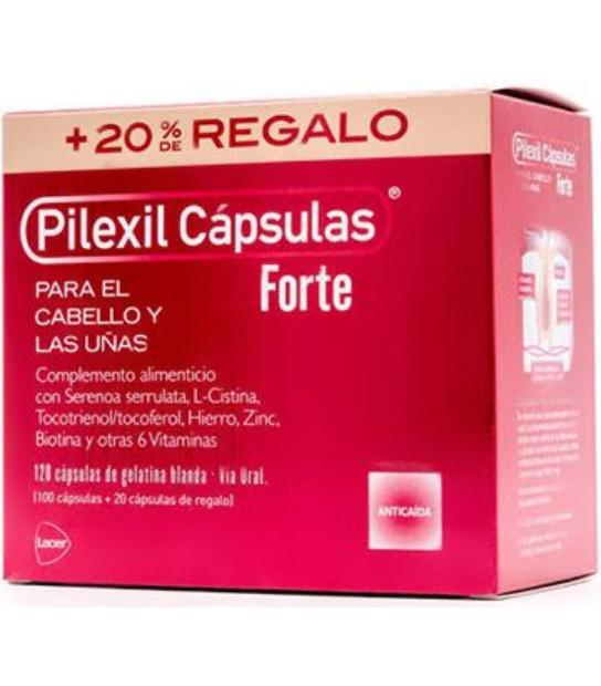 PILEXIL CAPSULAS FORTE CABELLO Y UÑAS 120 CAPSULAS