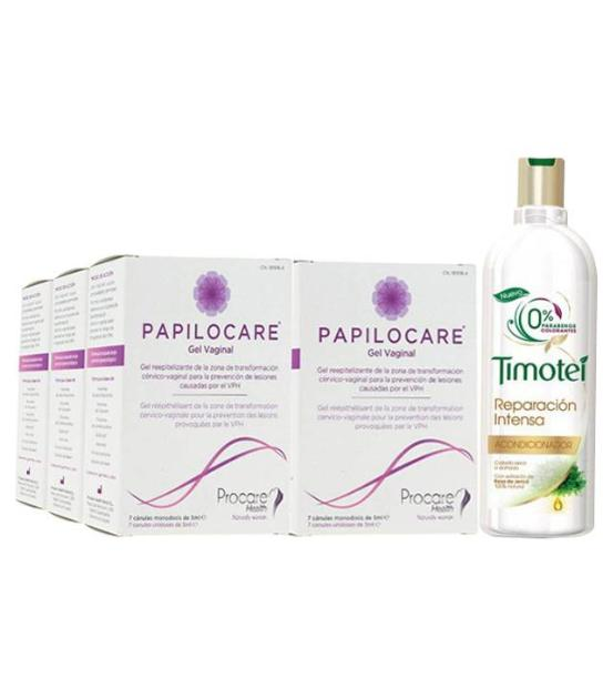 PACK 6U PAPILOCARE GEL VAGINAL 7 CANULAS 5ML + OBSEQUIO