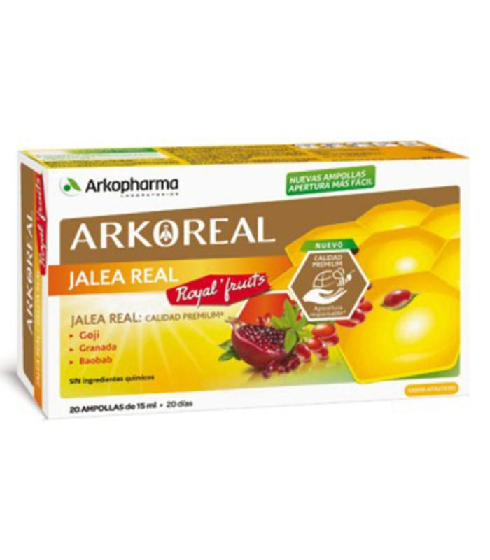 Comprar ARKOREAL JALEA REAL ROYAL FRUITS 20 AMPOLLAS