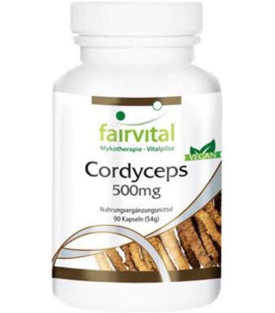 CORDYCEPS FAIRVITAL 500MG 90 CAPSULAS