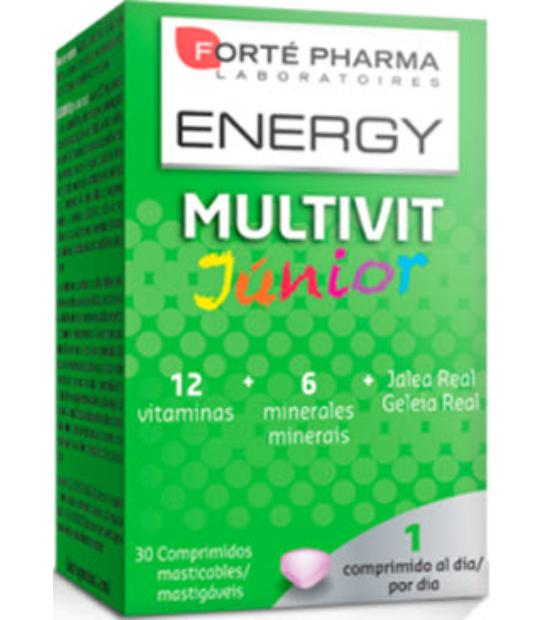 ENERGY MULTIVIT JUNIOR 30 COMPRIMIDOS MASTICABLES FORTE PHARMA