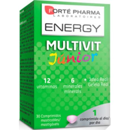 comprar ENERGY MULTIVIT JUNIOR 30 COMPRIMIDOS MASTICABLES FORTE PHARMA