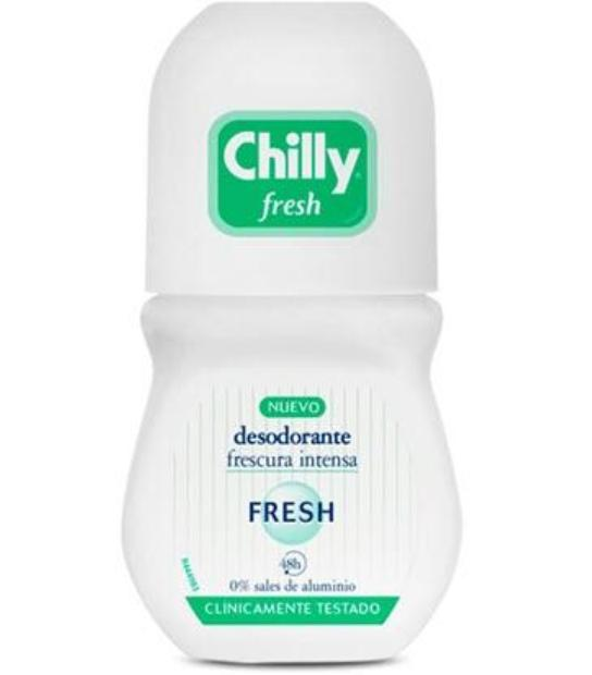 CHILLY FRESH FRESCURA INTENSA SIN ALUMINIO DESODORANTE 48H 50ML