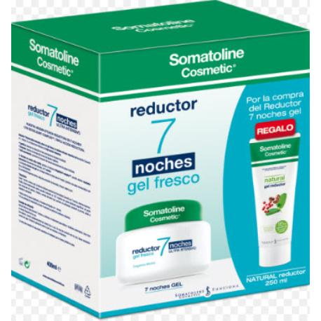 comprar SOMATOLINE GEL FRESCO REDUCTOR 7 NOCHES 400ML MAS NATURAL GEL REDUCTOR 250ML