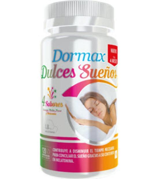DORMAX DULCES SUEÑOS 1.8MG 120 COMPRIMIDOS MASTICABLES 4 SABORES ACTAFARMA