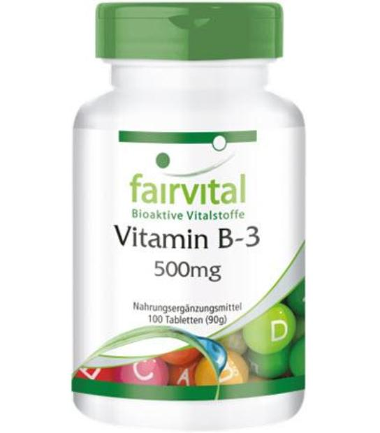 FAIRVITAL VITAMINA B3 500MG 100 PASTILLAS
