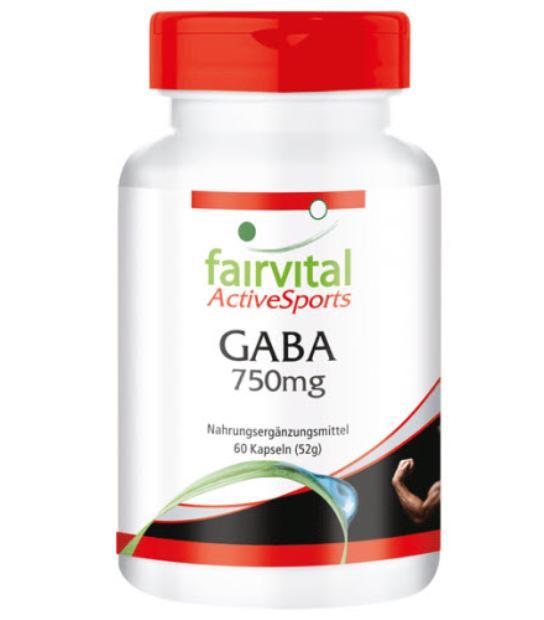 FAIRVITAL GABA 750MG 60 CAPSULAS
