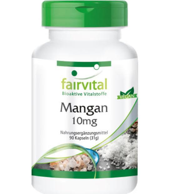 comprar MANGANESO 10MG 90 CAPSULAS FAIRVITAL