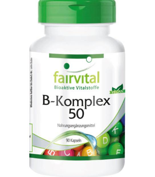 FAIRVITAL VITAMINA B KOMPLEX 50 90 CAPSULAS