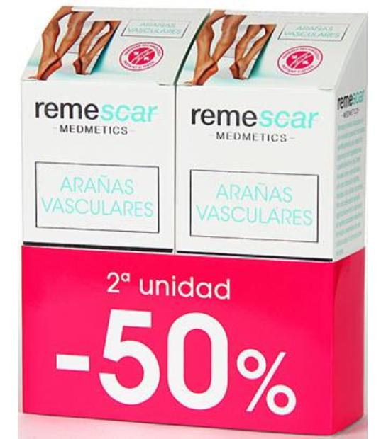 DUPLO REMESCAR ARAÑAS VASCULARES 2ºUND 50%