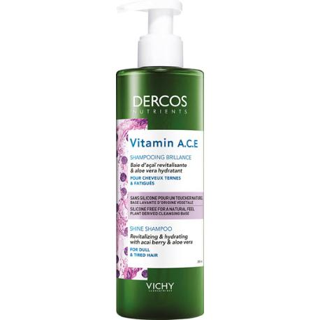 comprar DERCOS NUTRIENTS VITAMIN A.C.E. CHAMPU BRILLO 100ML VICHY