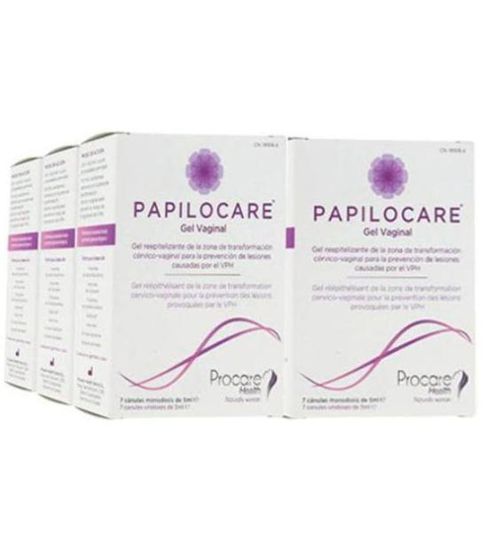 PACK 6U PAPILOCARE GEL VAGINAL 7 CANULAS 5ML