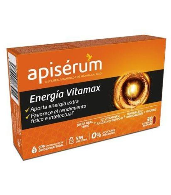 APISERUM ENERGIA VITAMAX 30 CAPSULAS BLANDAS
