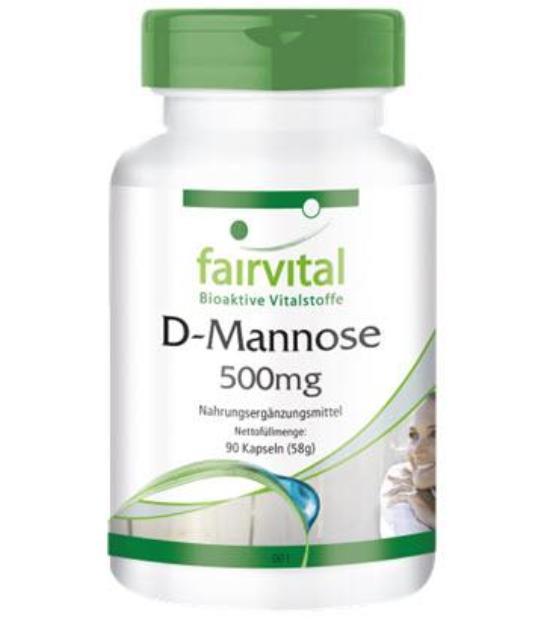 FAIRVITAL D-MANOSA 500MG 90 CAPSULAS D-Mannose