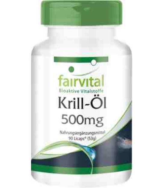 FAIRVITAL ACEITE DE KRILL 500MG 90 CAPSULAS