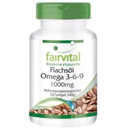 comprar FAIRVITAL ACEITE DE LINAZA OMEGA 3-6-9 120 CAPSULAS