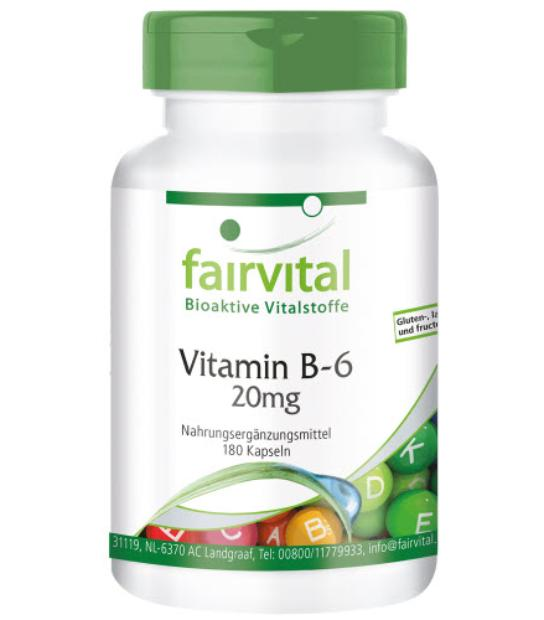 FAIRVITAL VITAMINA B-6 20MG 180 CAPSULAS