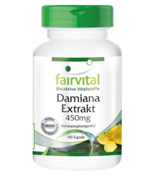 comprar FAIRVITAL EXTRACTO DE DAMIANA 450MG 100 CAPSULAS