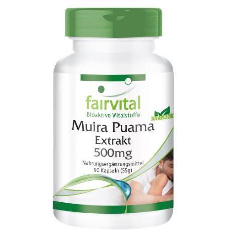 comprar FAIRVITAL EXTRACTO DE MUIRA PUAMA 500MG 90 CAPSULAS