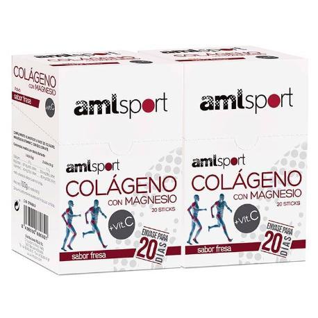 comprar DUPLO COLAGENO CON MAGNESIO VIT C AMLSPORT SABOR FRESA 20 STICK