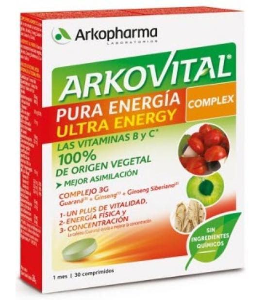 CUPON 3€ ARKOVITAL PURA ENERGIA ULTRA ENERGY COMPLEX 30 COMPRIMIDOS