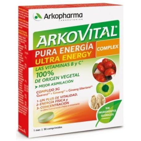 comprar ARKOVITAL PURA ENERGIA ULTRA ENERGY COMPLEX 30 COMPRIMIDOS ARKOPHARMA