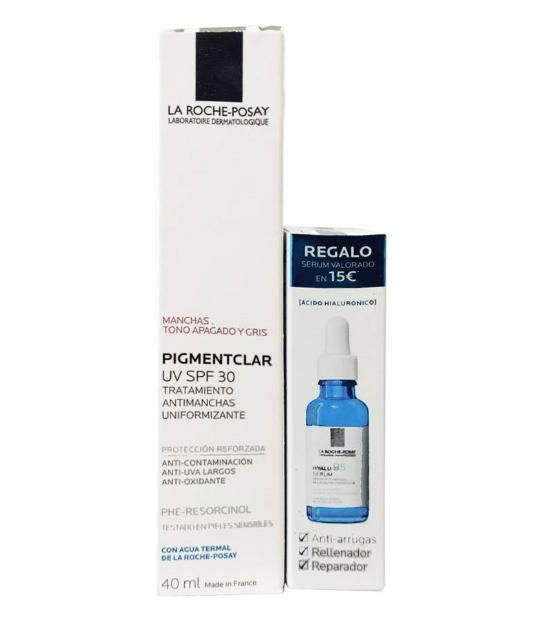 Comprar PACK PIGMENTCLAR UV SPF30 40 ML ANTIMANCHAS UNIFORMANTE + HYALU B5 SERUM 10 ML LA ROCHE POSAY