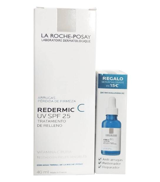 PACK REDERMIC C UV SPF 25 TRATAMIENTO DE RELLENO 40 ML + HYALU B5 SERUM 10M ML LA ROCHE POSAY
