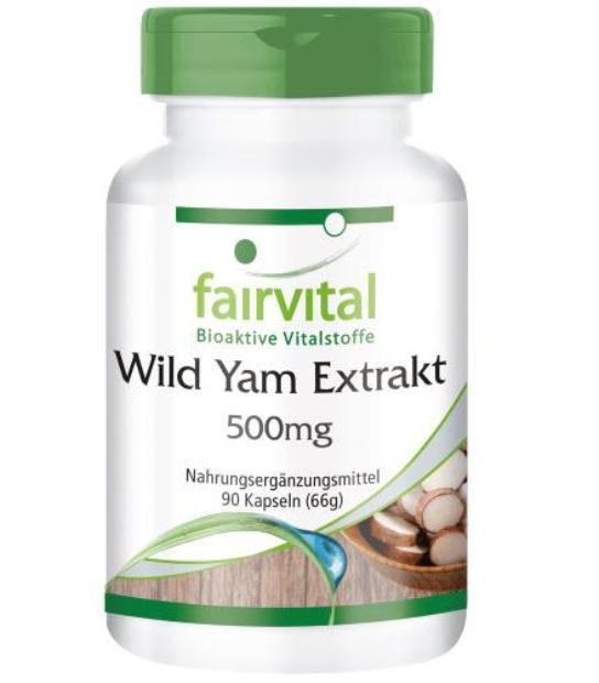 FAIRVITAL WILD YAM (RAIZ DE DIOSCOREA) 500MG 90 CAPSULAS EXTRACTO