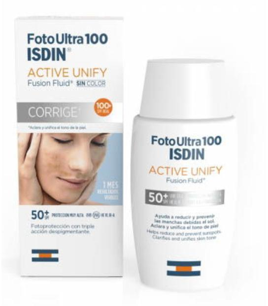 ISDIN FOTO ULTRA 100 ACTIVE UNIFY SPF 50 FUSION FLUID 50 ML