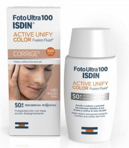 ISDIN FOTO ULTRA 100 ACTIVE UNIFY COLOR NATURAL SPF 50 FUSION FLUID 50 ML