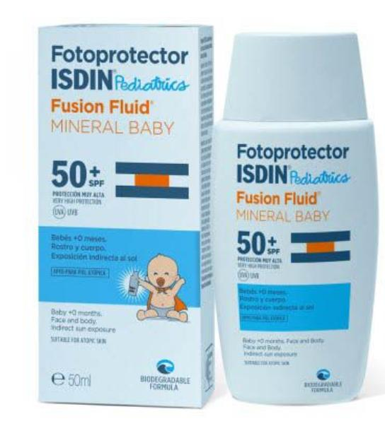 Comprar ISDIN FOTOPROTECTOR PEDIATRICS SPF 50 FUSION FLUID MINERAL BABY 50 ML