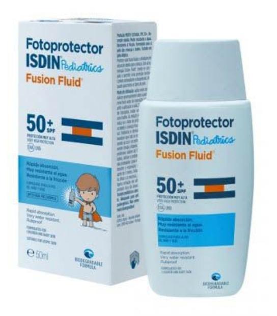 ISDIN FOTOPROTECTOR PEDIATRICS SPF50 FUSION WATER 50ML