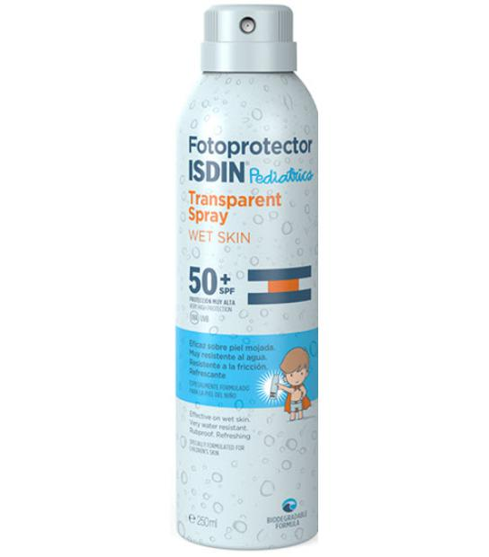 ISDIN FOTOPROTECTOR PEDIATRICS TRANSPARENT SPRAY WET SKIN SPF50+ 250ML